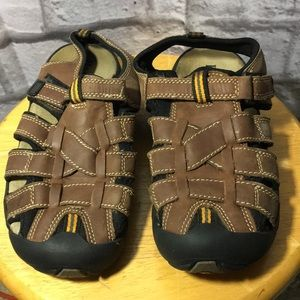 Bass Brown Leather Boys Sandals